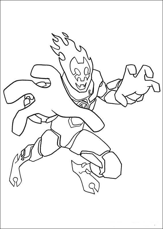 Раскраски супергероев бена