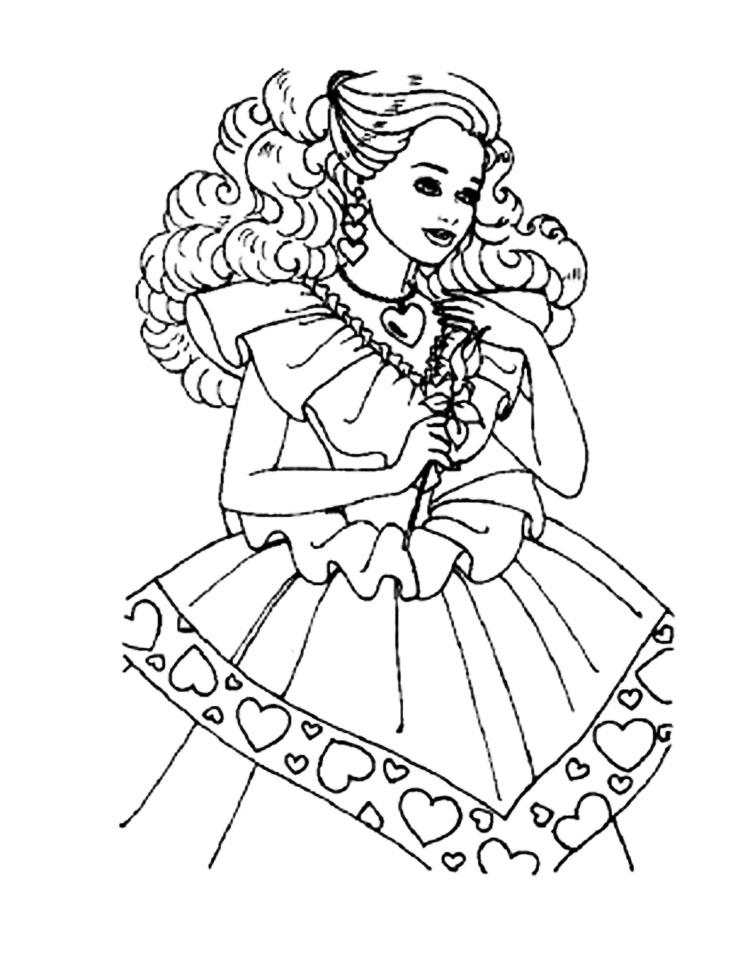 Раскраска для девочек 5 6 лет - 9